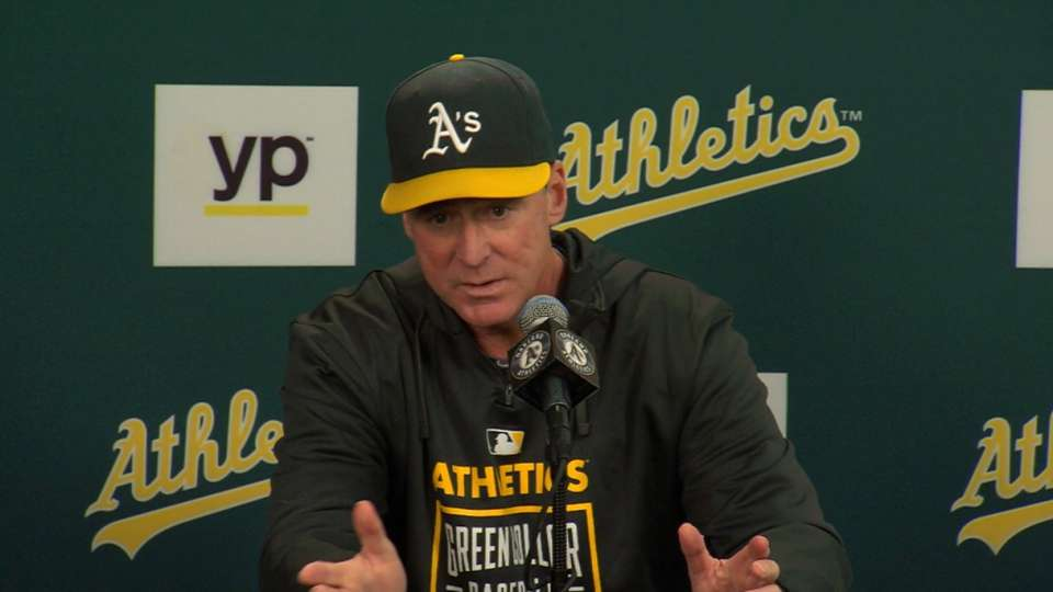 Melvin on A's 6-2 loss