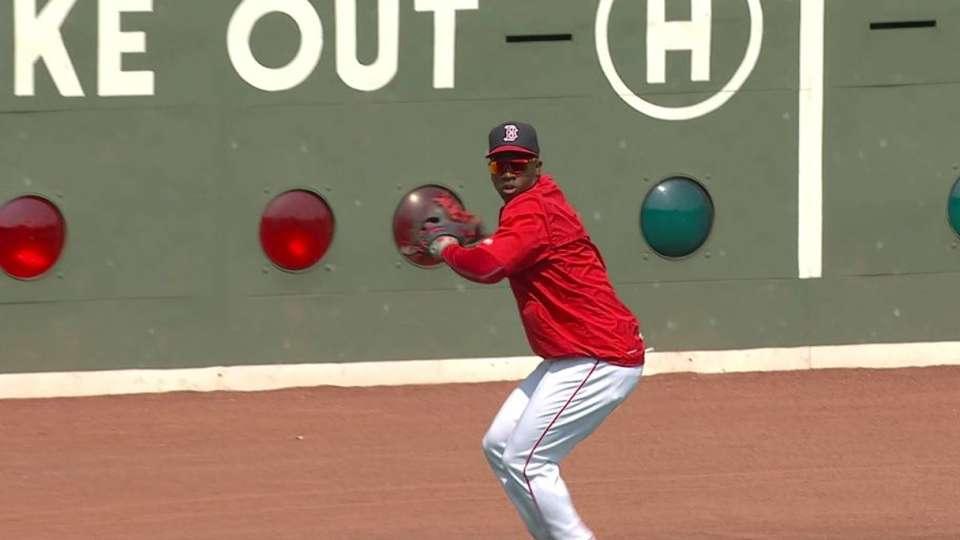 Castillo takes left field