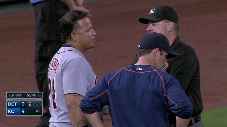 Miggy tossed in the 4th