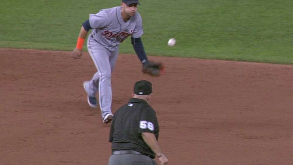 Iglesias' leaping catch at short
