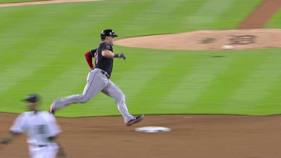 Sands triples to right-center