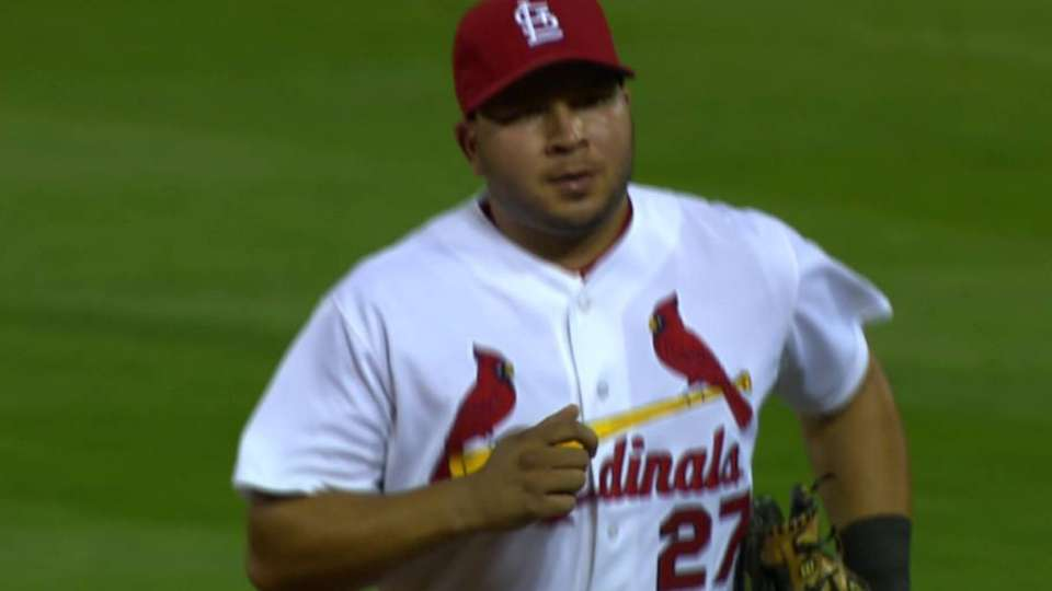 Peralta's play ranging left