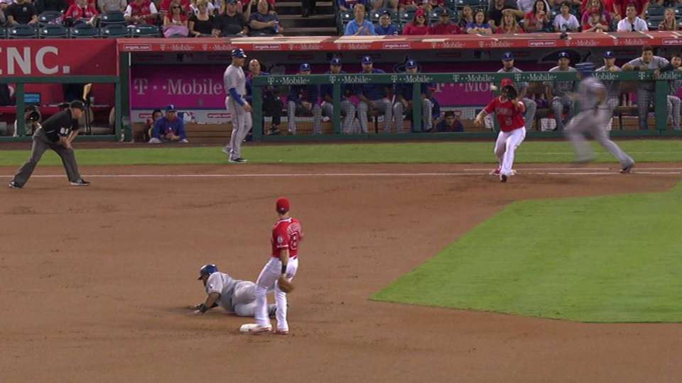 Angels turn two, save a run