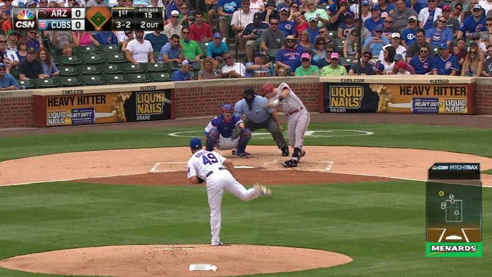 Arrieta gives up first hit