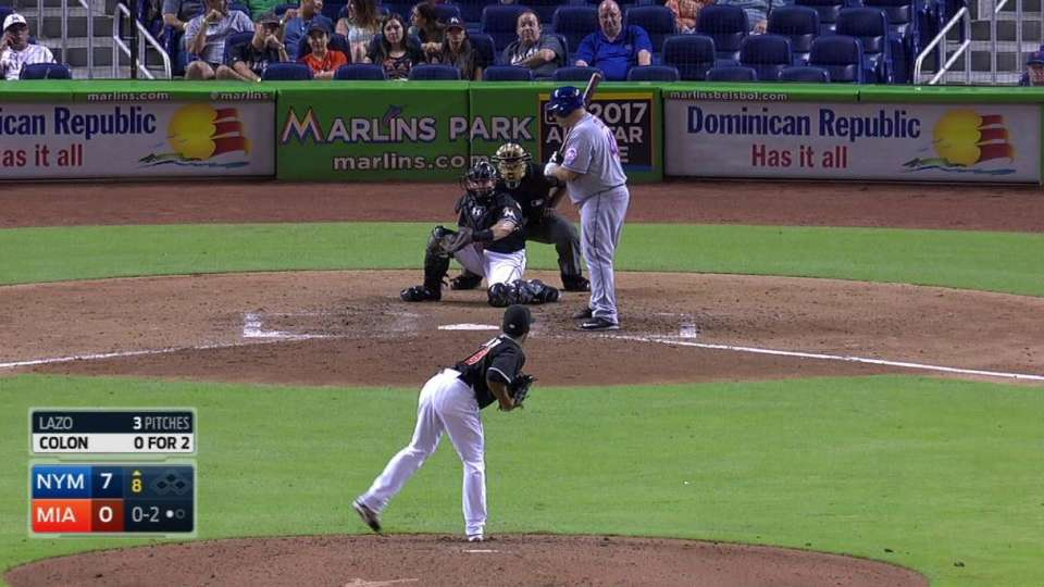 Lazo's first career strikeout