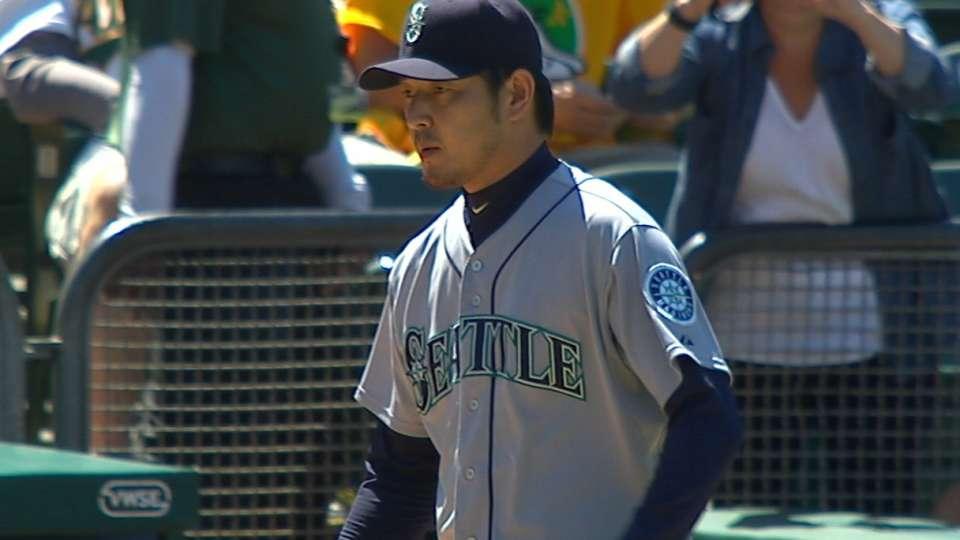 Iwakuma holds A's to one run