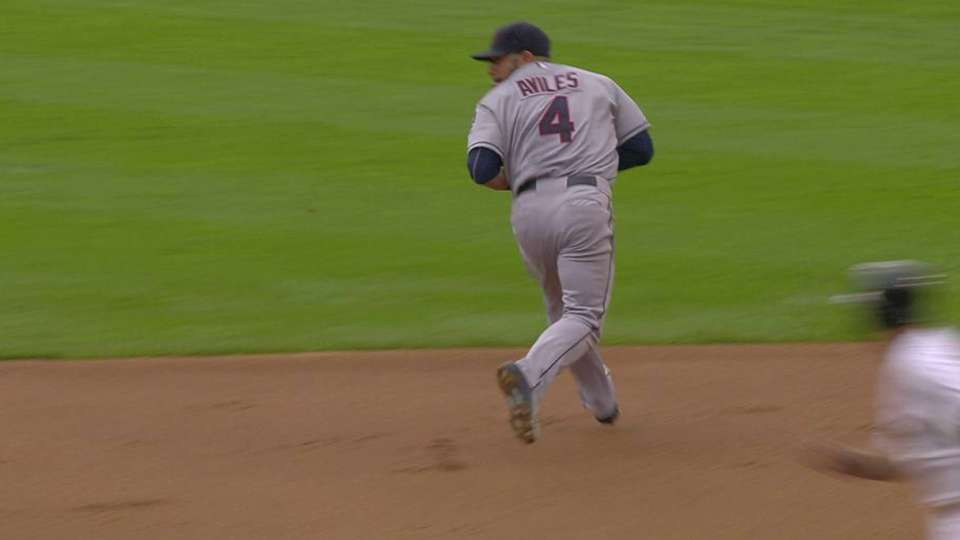 Aviles gets the forceout