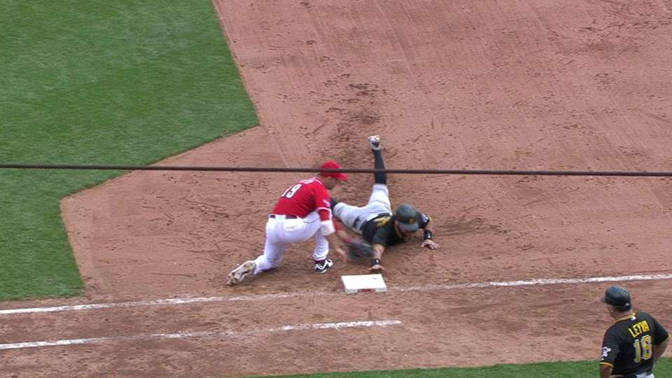 Chapman gets pickoff on review