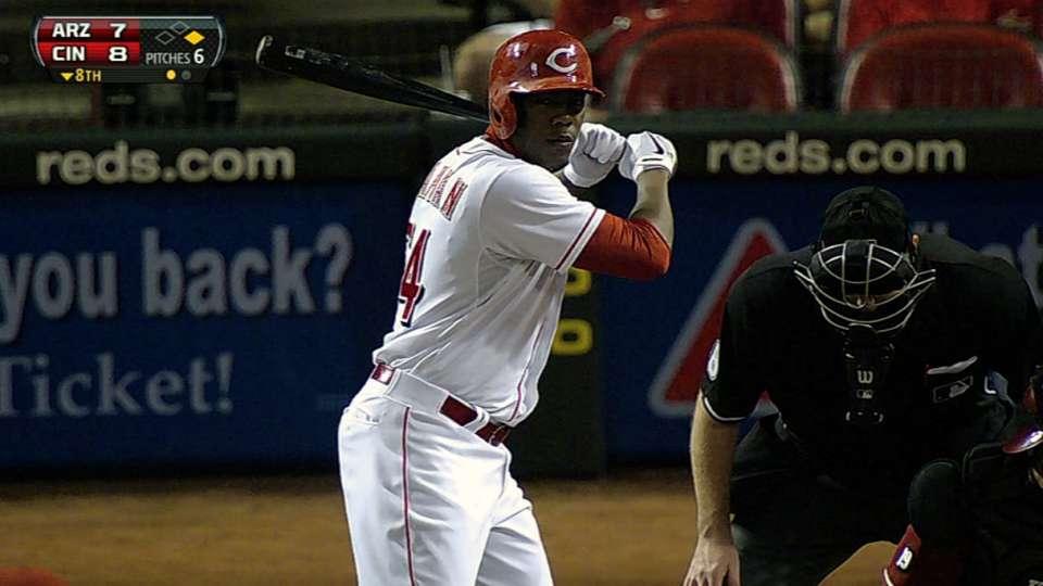 Chapman's first MLB at-bat