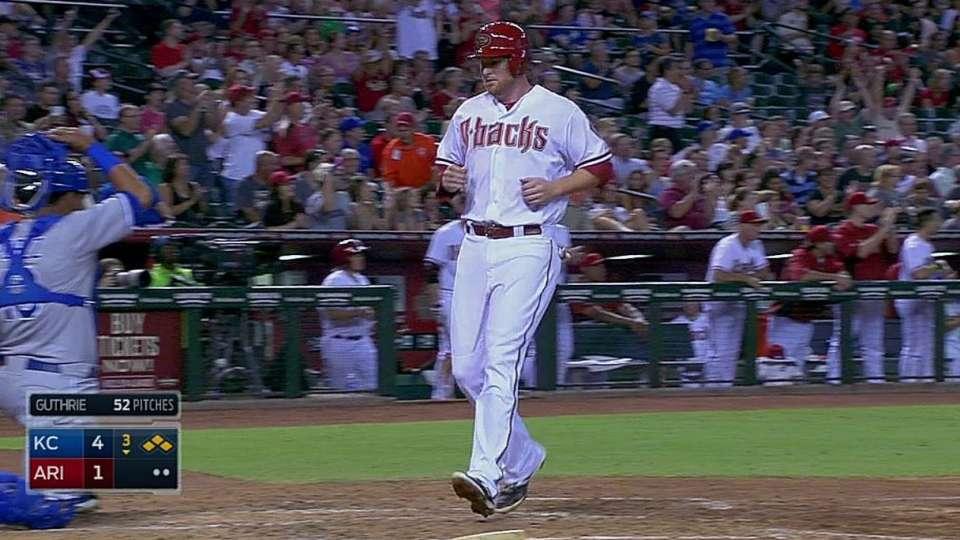Lamb's first MLB hit