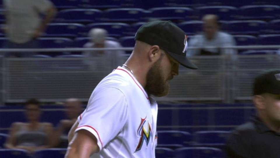 Dunn strands pair with strikeout