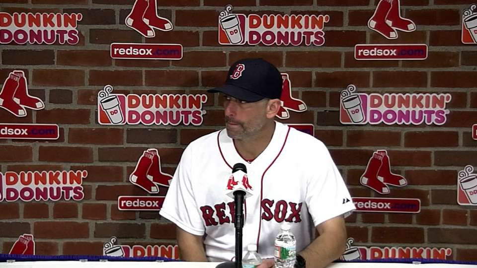 Lovullo on bullpen in 5-1 loss