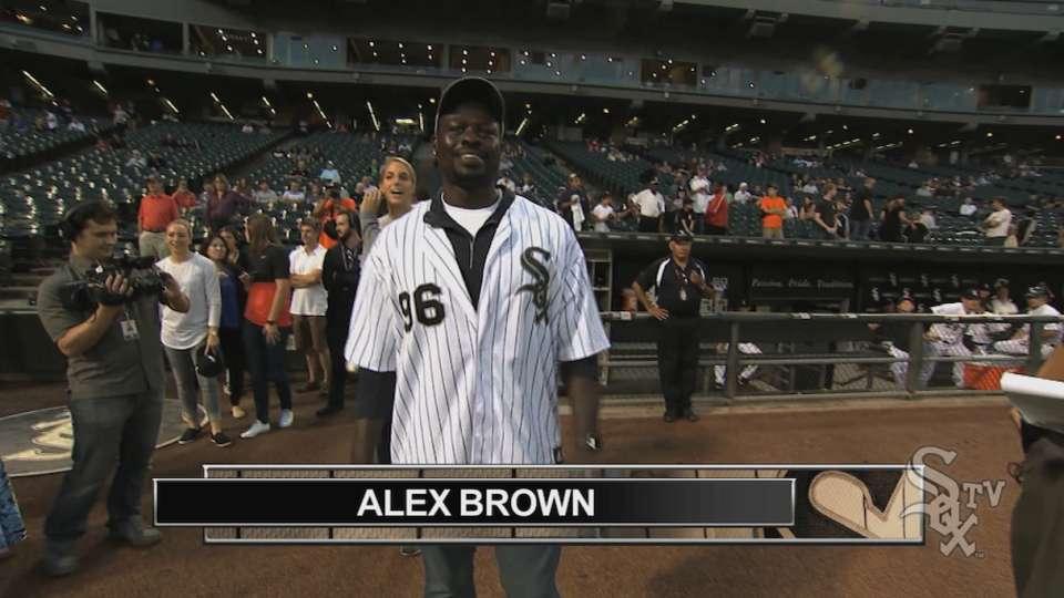 Alex Brown's first pitch