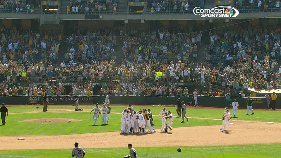 A's 9th-inning rally