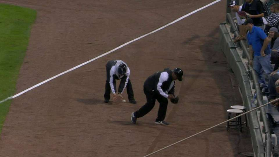 Security can't field grounder