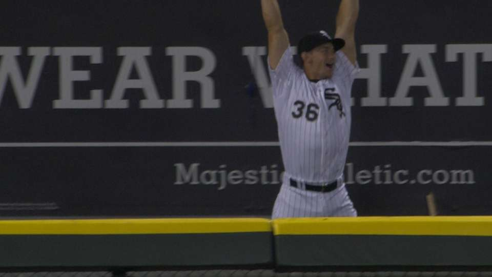 Abreu homers, Brantly catches it