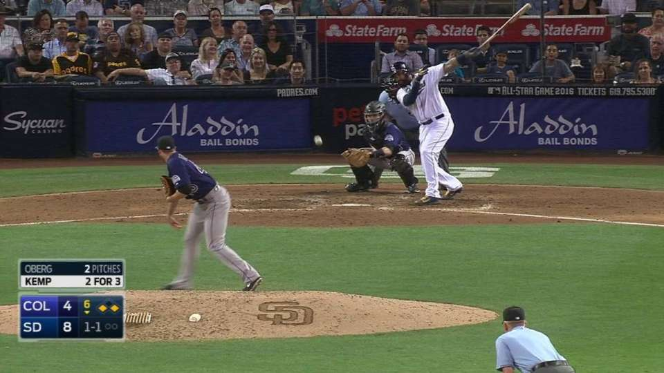 Kemp's RBI forceout