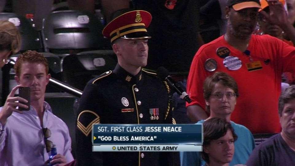 Neace sings 'God Bless America'