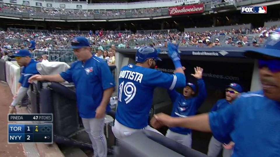 Bautista's solo homer