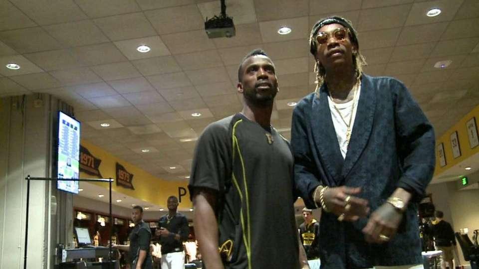 Wiz Khalifa visits Pirates
