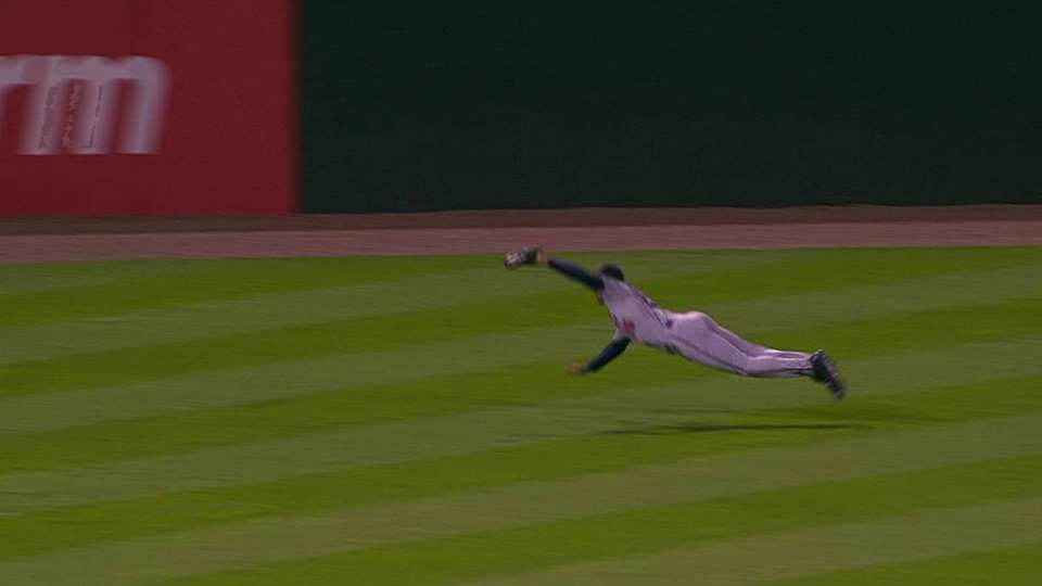 Buxton's diving grab