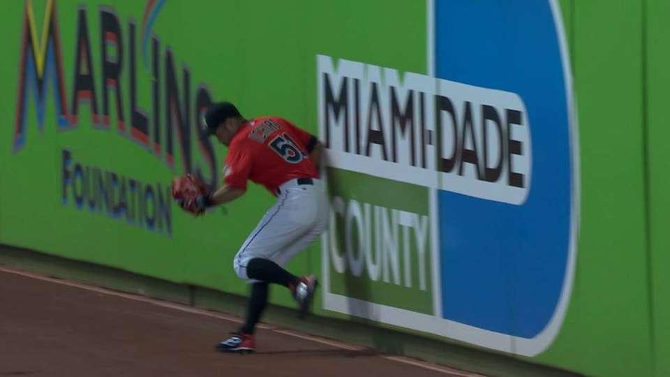 Ichiro's leaping grab
