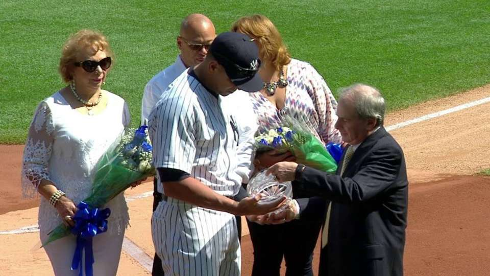A-Rod honored for 3,000th hit