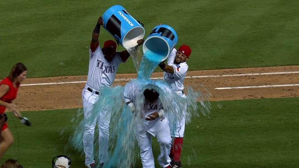 Fielder on big win, gets soaked