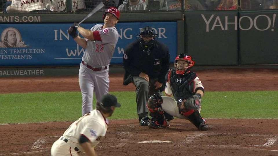 Bruce's long two-run homer