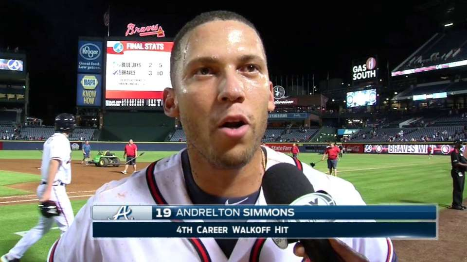 Simmons on Braves' walk-off win