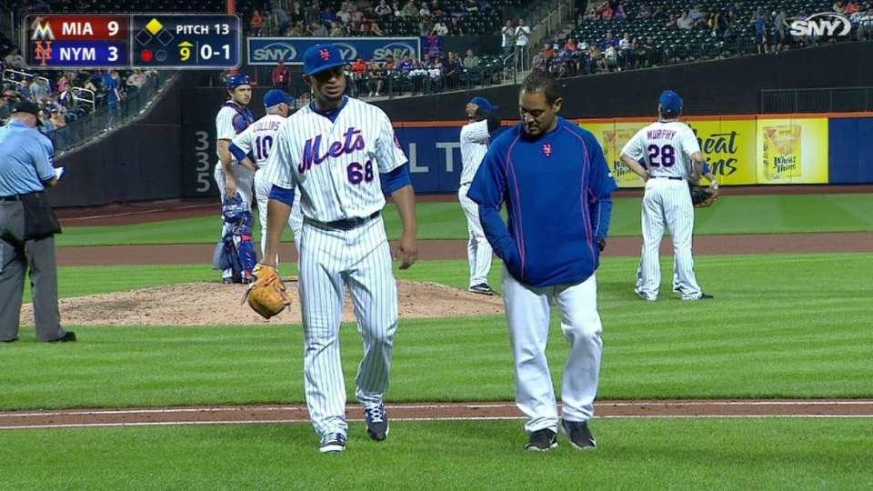 Alvarez exits game