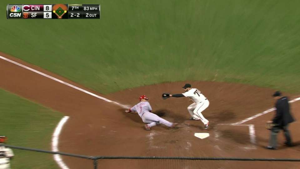 Posey recovers for out at home