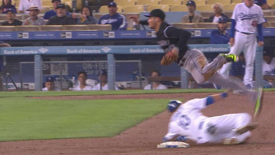 Arenado takes exception to slide