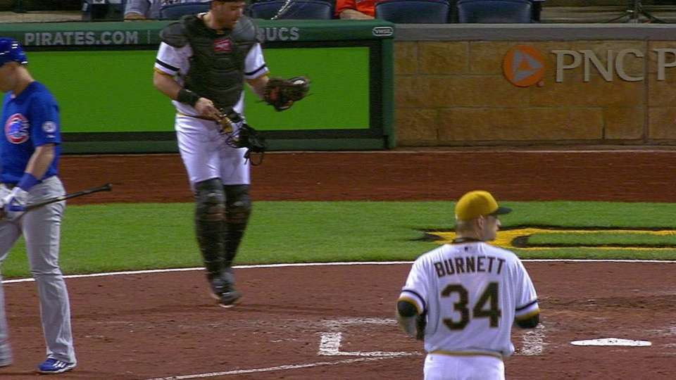 Cervelli can't find ball