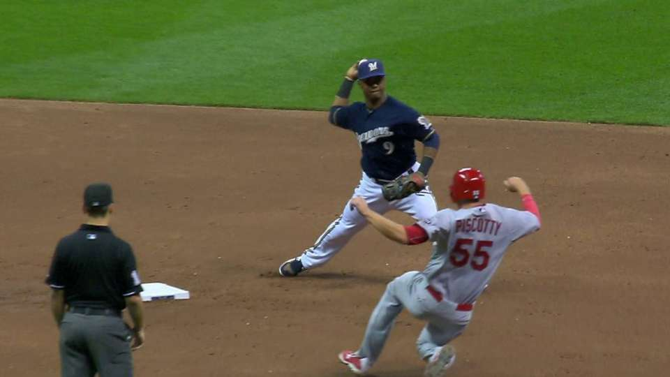 Peralta induces double play