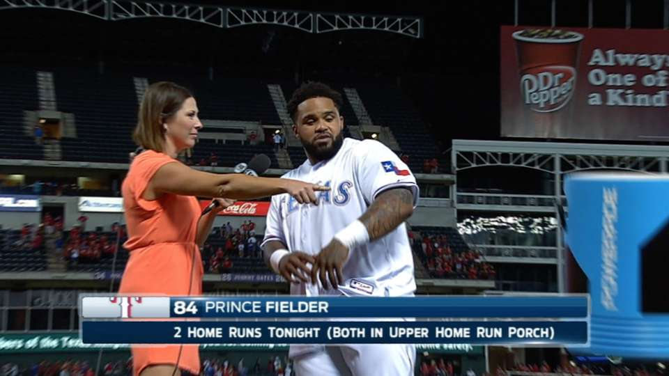 Andrus pranks Prince after game