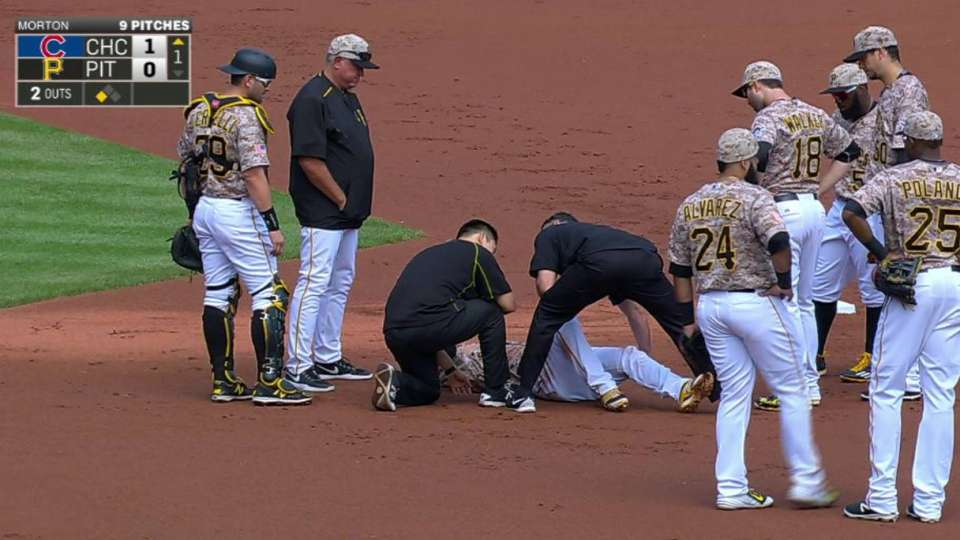 Kang exits with fractured leg