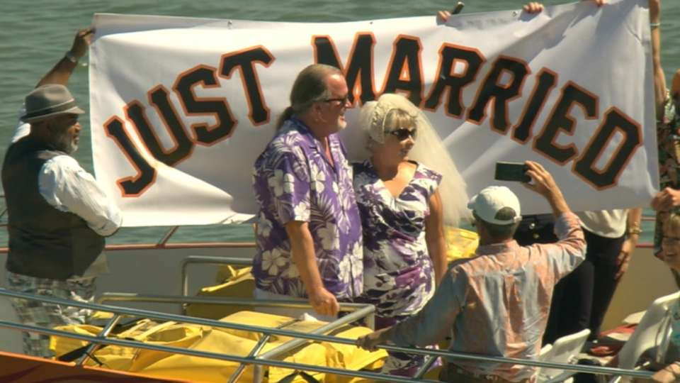 Couple ties the knot on boat