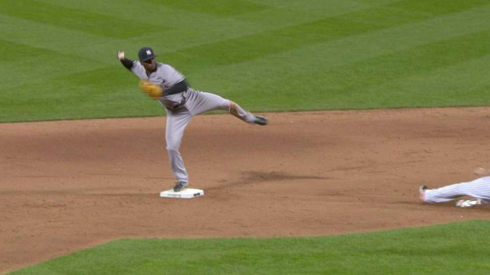 Capuano starts double play