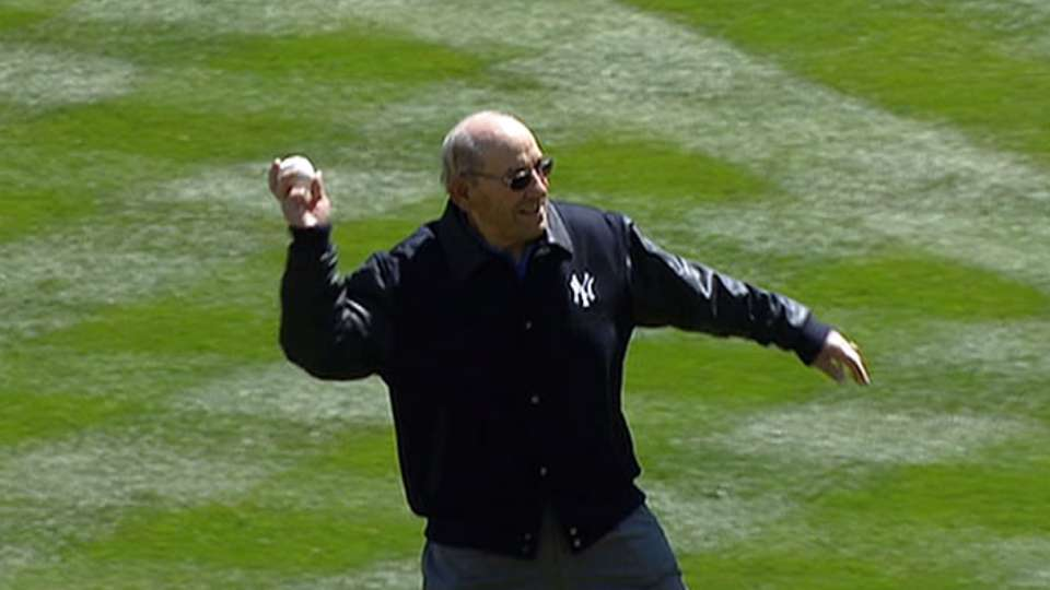 Yogi's first pitch