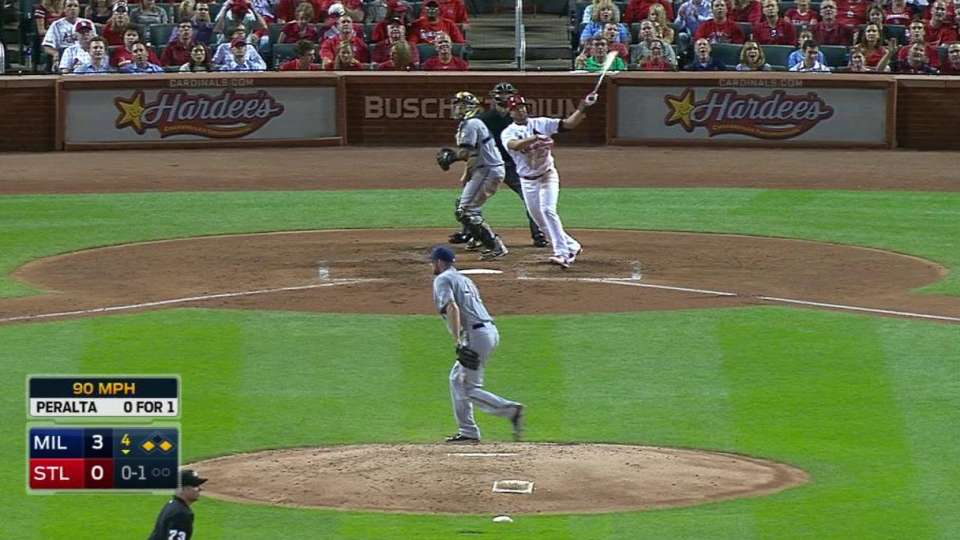 Peralta's three-run blast