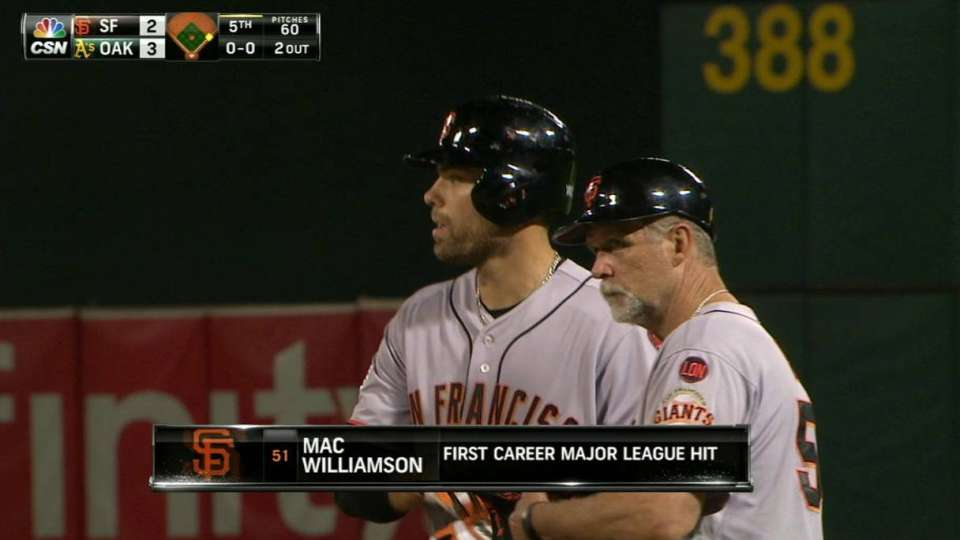 Williamson's first career hit