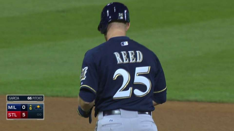 Reed collects first MLB hit
