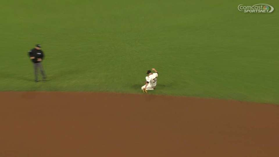 Tomlinson's backhanded stop