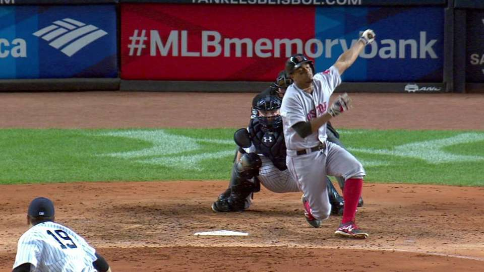 Tanaka fans Bogaerts to end 5th
