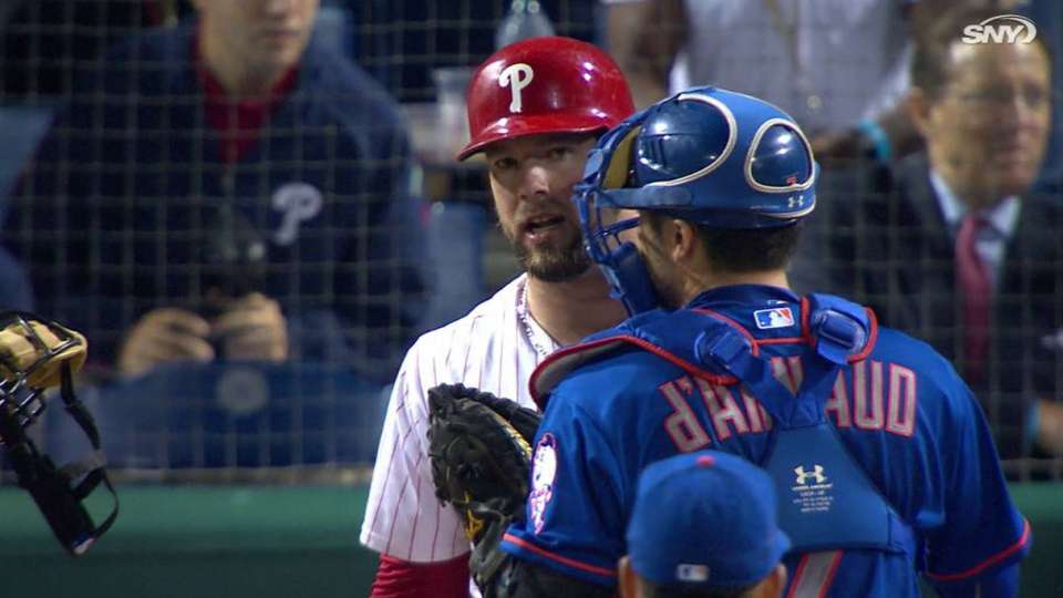 Robles ejected, benches clear