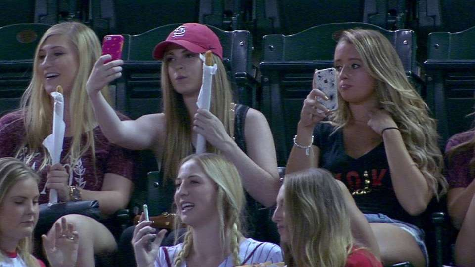 Fans have fun taking selfies
