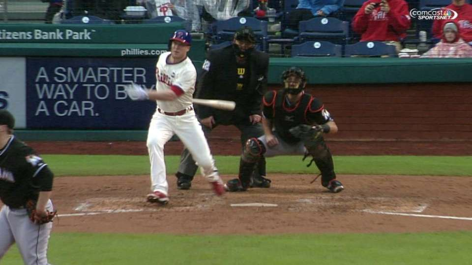 Asche's bases-clearing triple