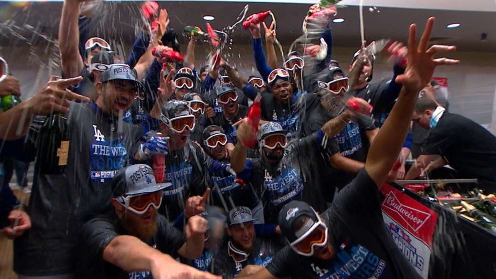 Dodgers win third straight NL West title | Los Angeles Dodgers