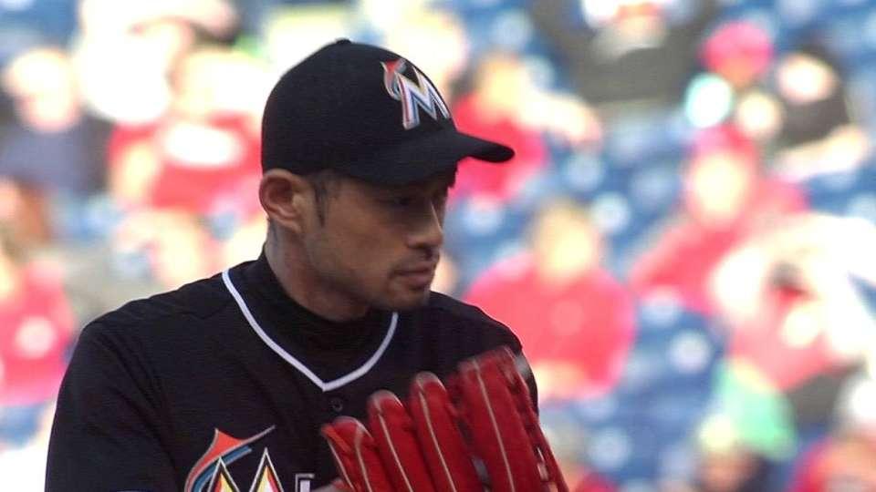 Ichiro takes the mound